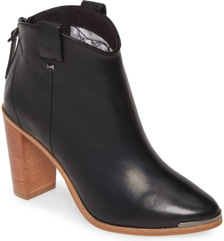 TED BAKER LONDON Kasidy Bootie, Main, color, BLACK LEATHER