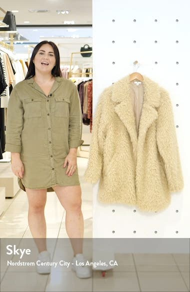 Faux Fur Teddy Coat, sales video thumbnail