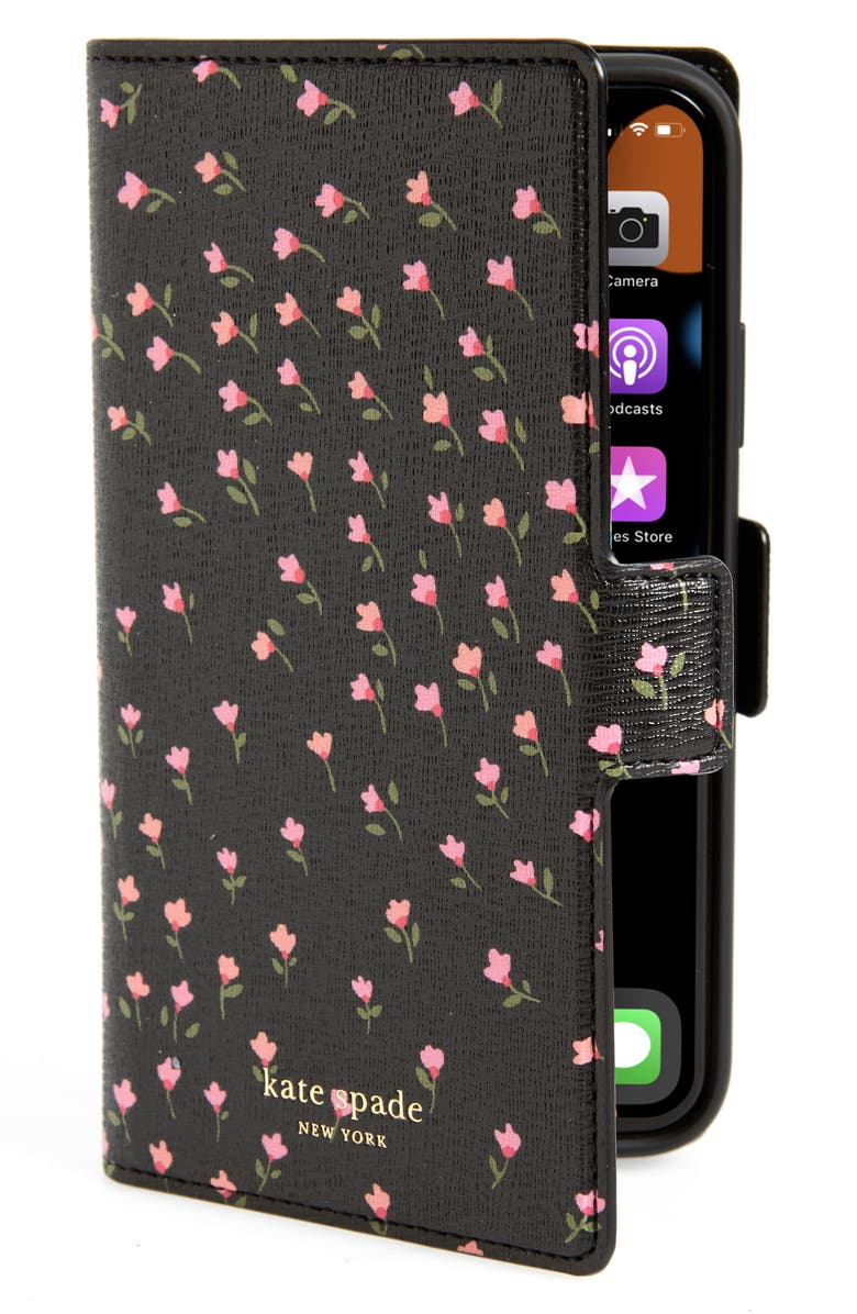 KATE SPADE NEW YORK sylvia meadow magnetic wrap iPhone Xs/Xs Max & XR folio, Main, color, 001