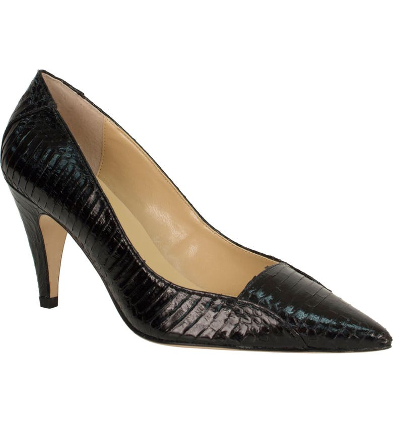 J. RENEÉ Cobra Pointy Toe Pump, Main, color, BLACK SNAKE PRINT LEATHER