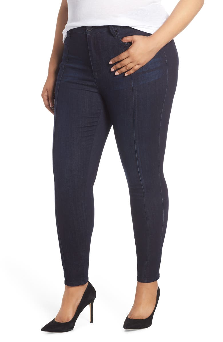 SEVEN7 High Rise Lace Hem Skinny Jeans, Main, color, ALIAS
