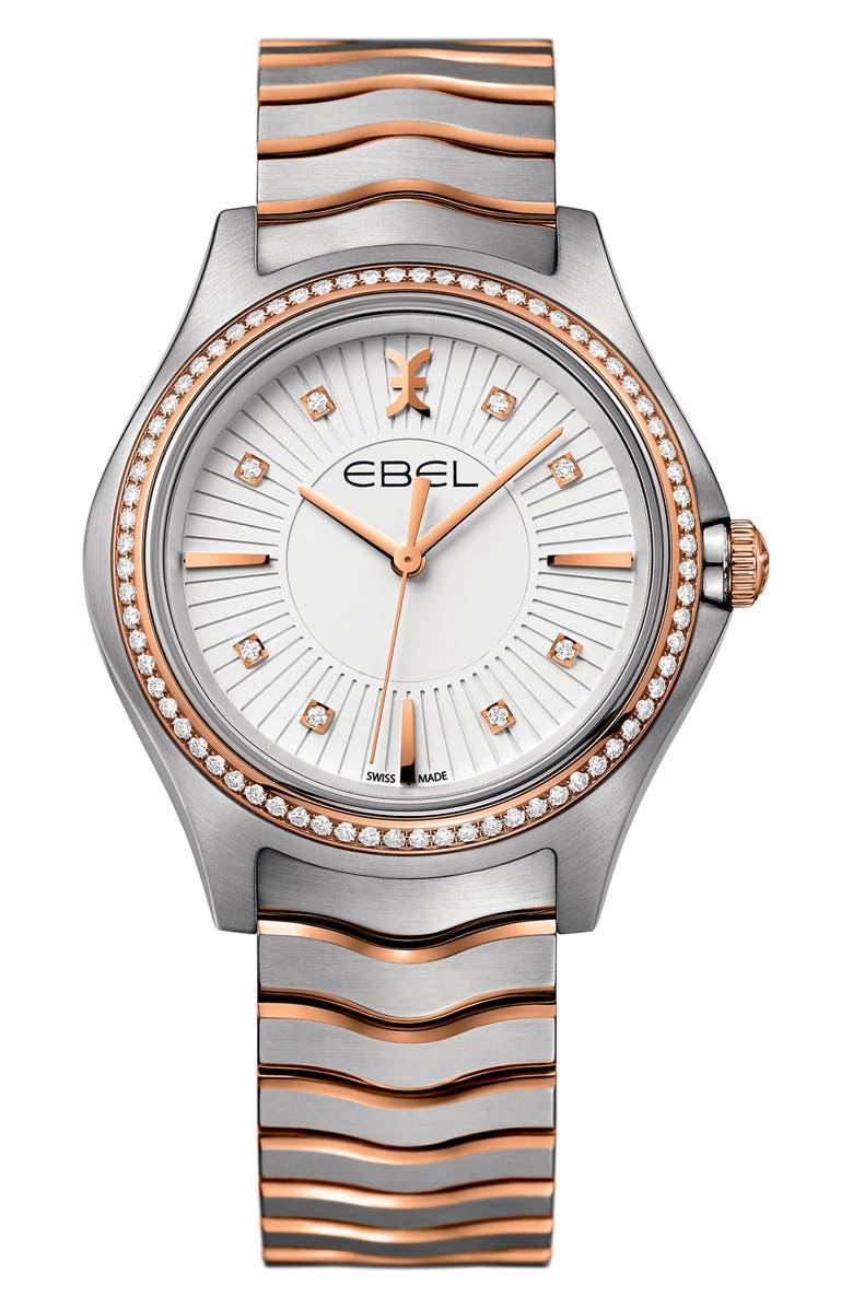 EBEL Wave Bracelet Watch, 35mm, Main, color, 041