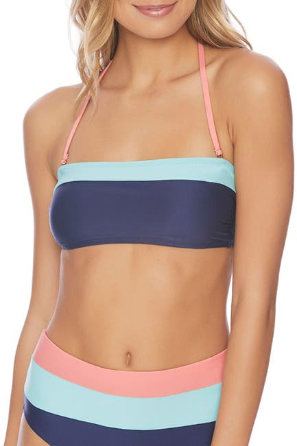 Image of Splendid In The Groove Molded Cup Bandeau Bikini Top