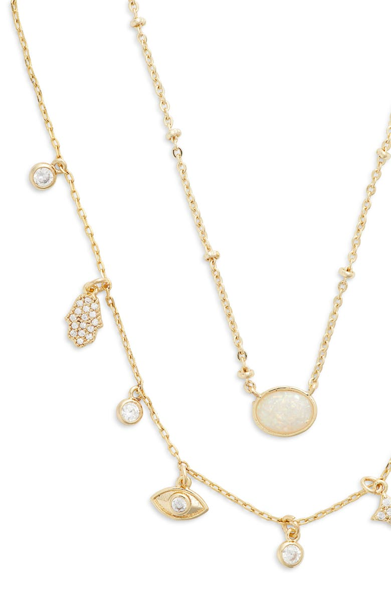 JULES SMITH Inner Goddess Layered Necklace, Main, color, GOLD/ OPAL