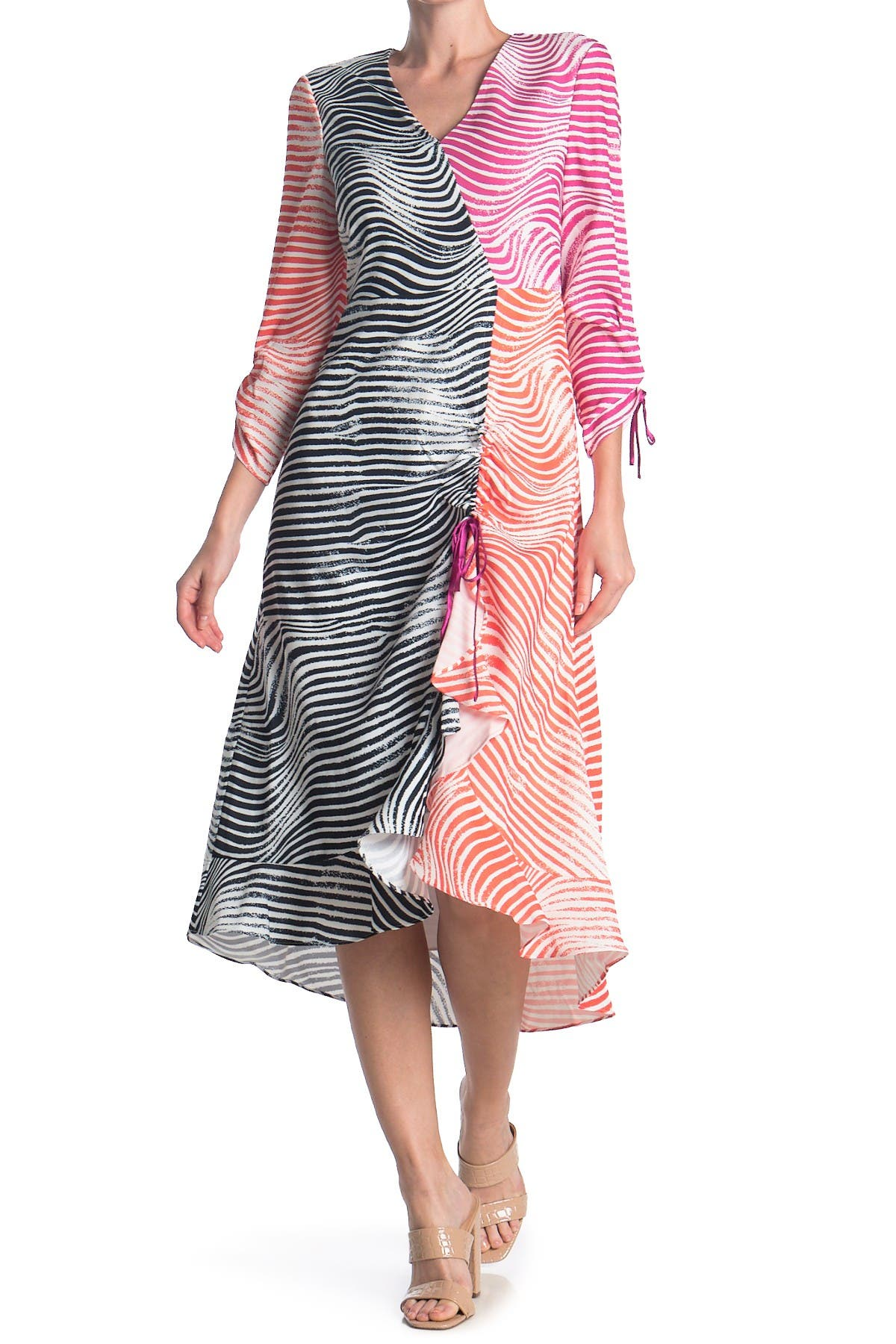 Image of Ted Baker London Wizzoh Zebra Mashup Dress