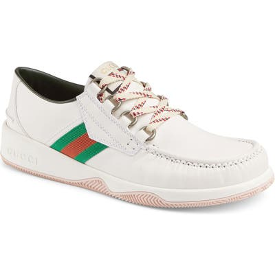 Gucci Boat Shoe, White