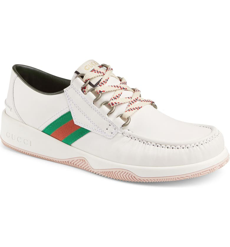 GUCCI Agrado Boat Shoe, Main, color, IVORY MULTI