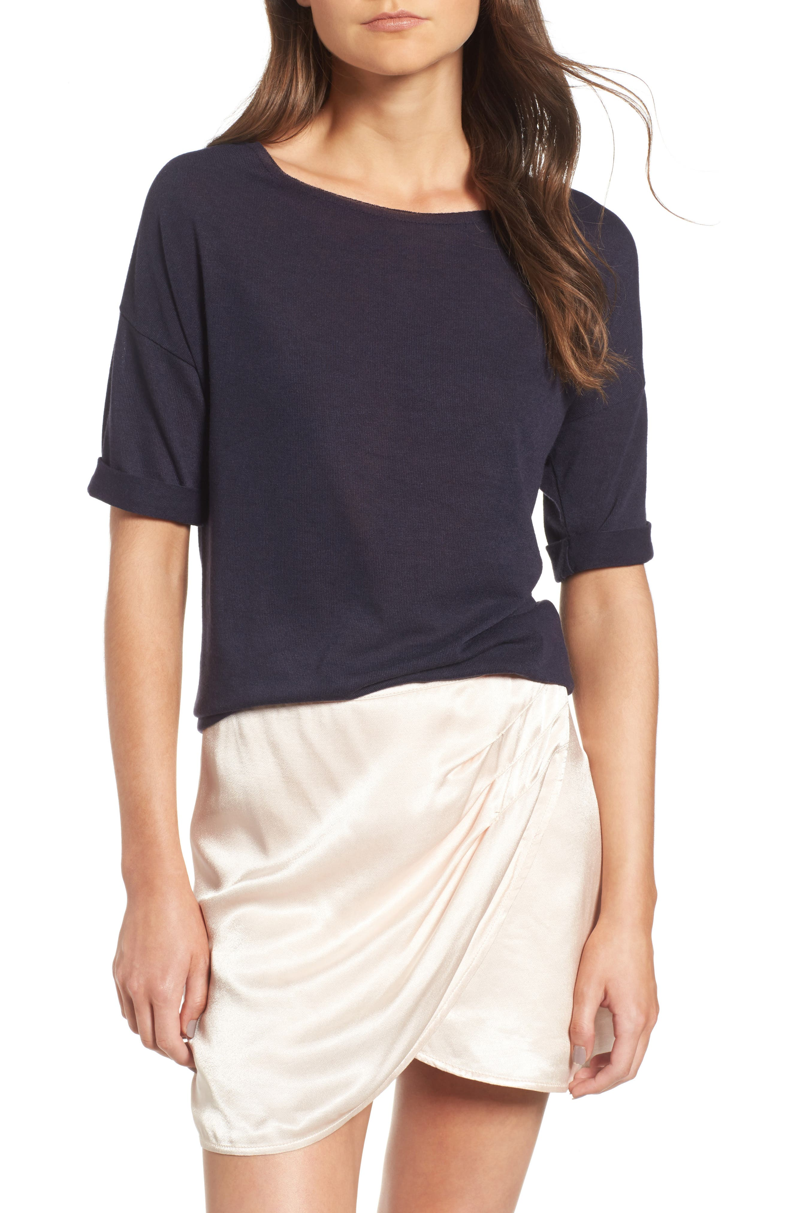 ,                             x Something Navy Easy Tee,                             Main thumbnail 14, color,                             400