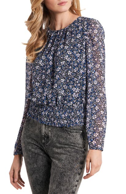 1.state 1. STATE FLORAL SMOCK WAIST TOP