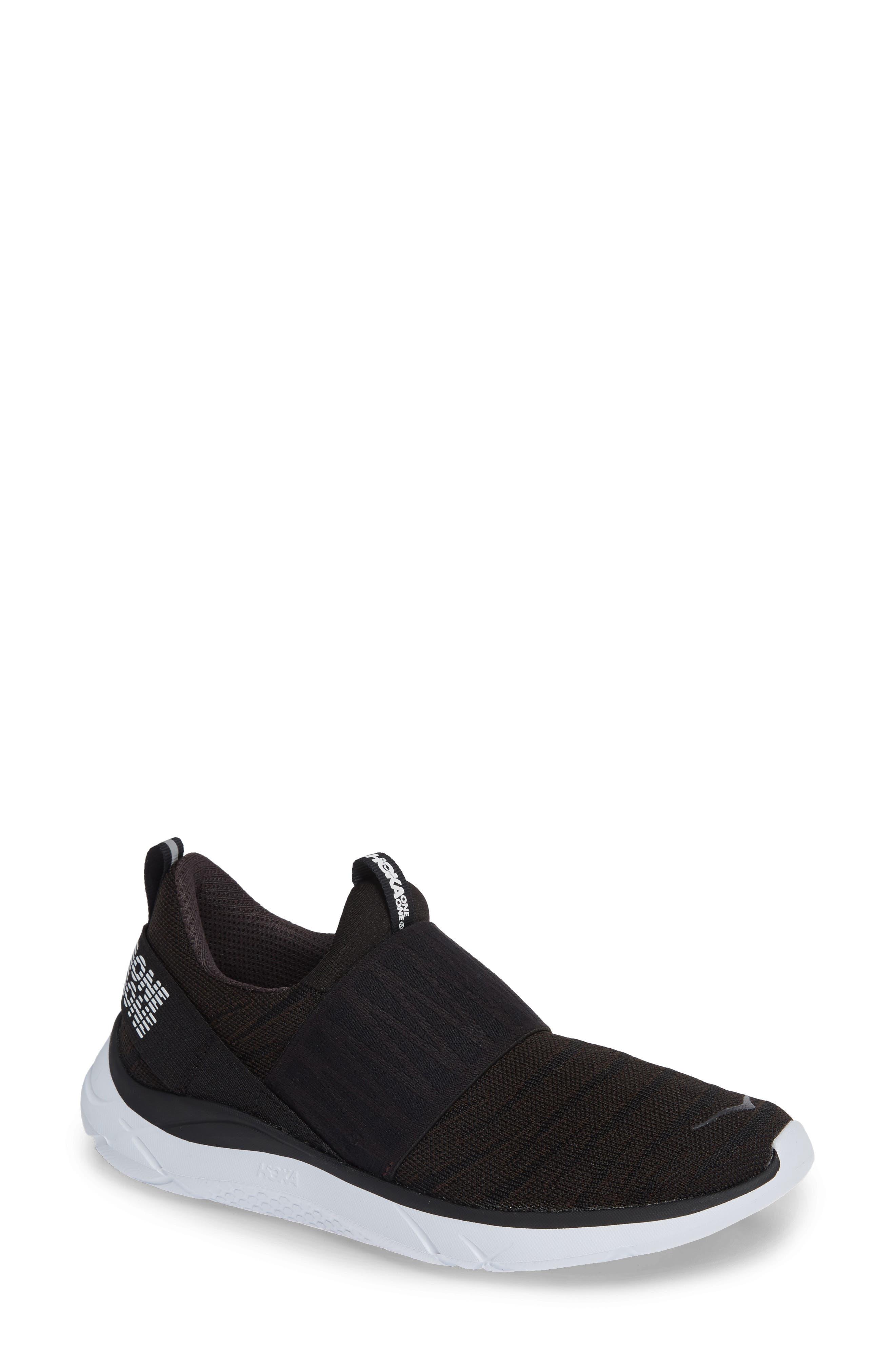 Hoka One One Hupana Knit Jacquard Slip-On Running Shoe