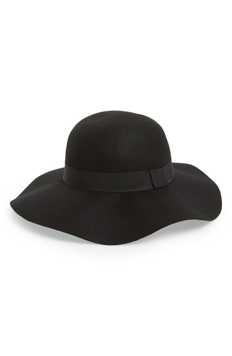 DAVID & YOUNG Floppy Wool Hat, Main, color, 001