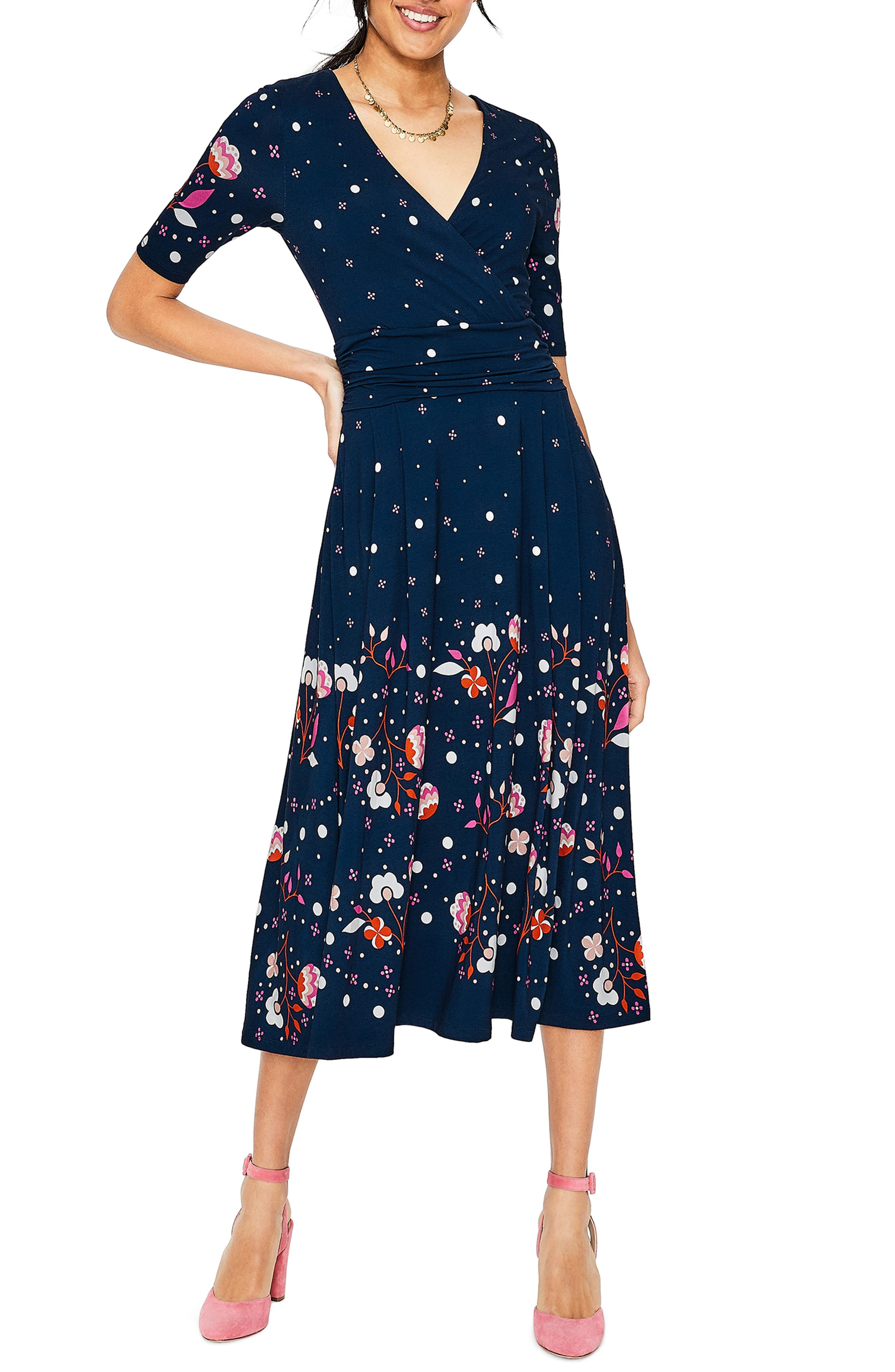 Boden Cassidy Faux Wrap Jersey Dress