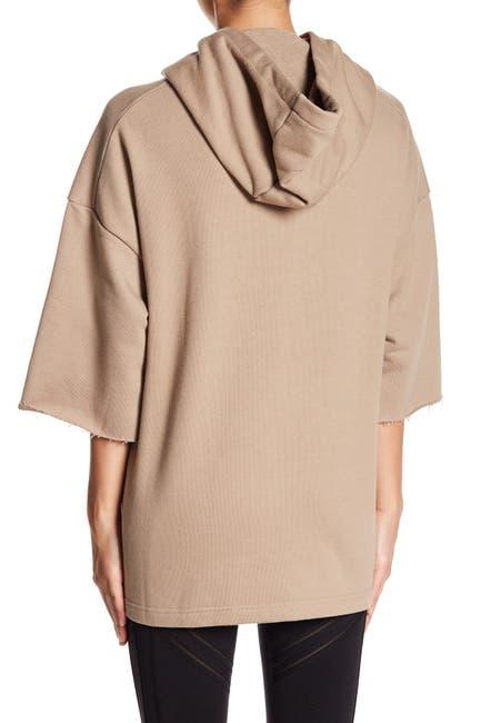 Image of Alo Crop Sleeve Oversize Hoodie