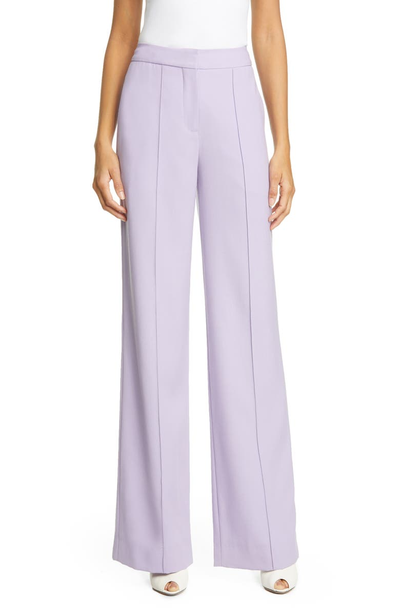 ADAM LIPPES Pintuck Tropical Stretch Wool Wide Leg Pants, Main, color, 510