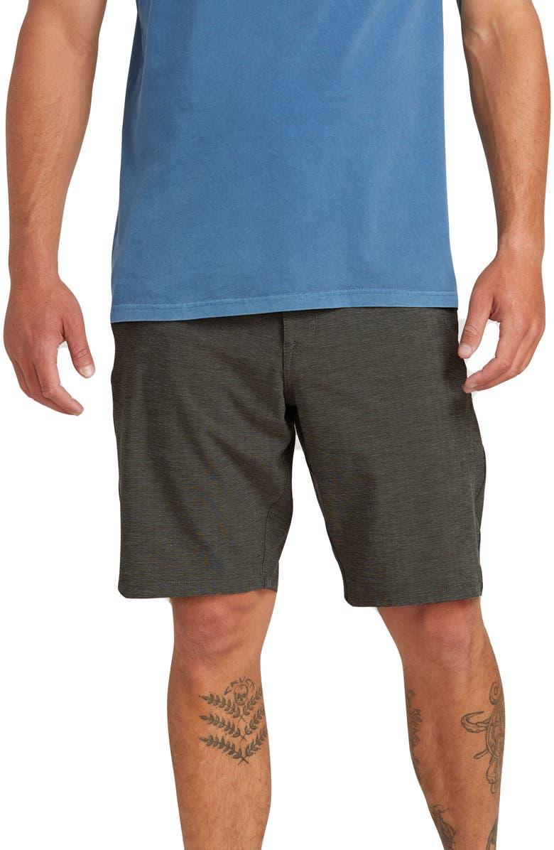 VOLCOM Frickin' Surf 'N' Turf Slub Hybrid Shorts, Main, color, 001