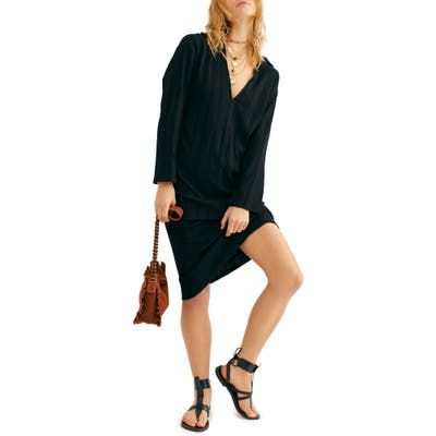 Endless Summer By Free People Aster Long Sleeve Dress, Black