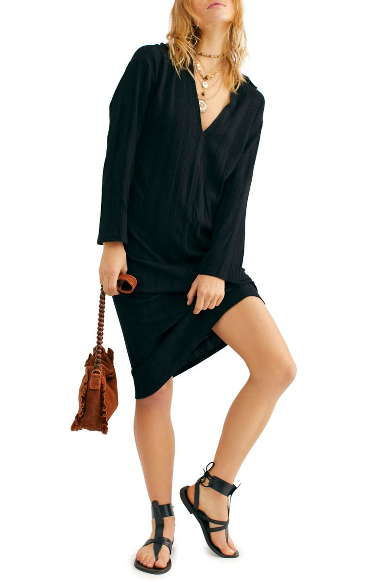FREE PEOPLE Endless Summer by Free People Aster Long Sleeve Dress, Main, color, BLACK