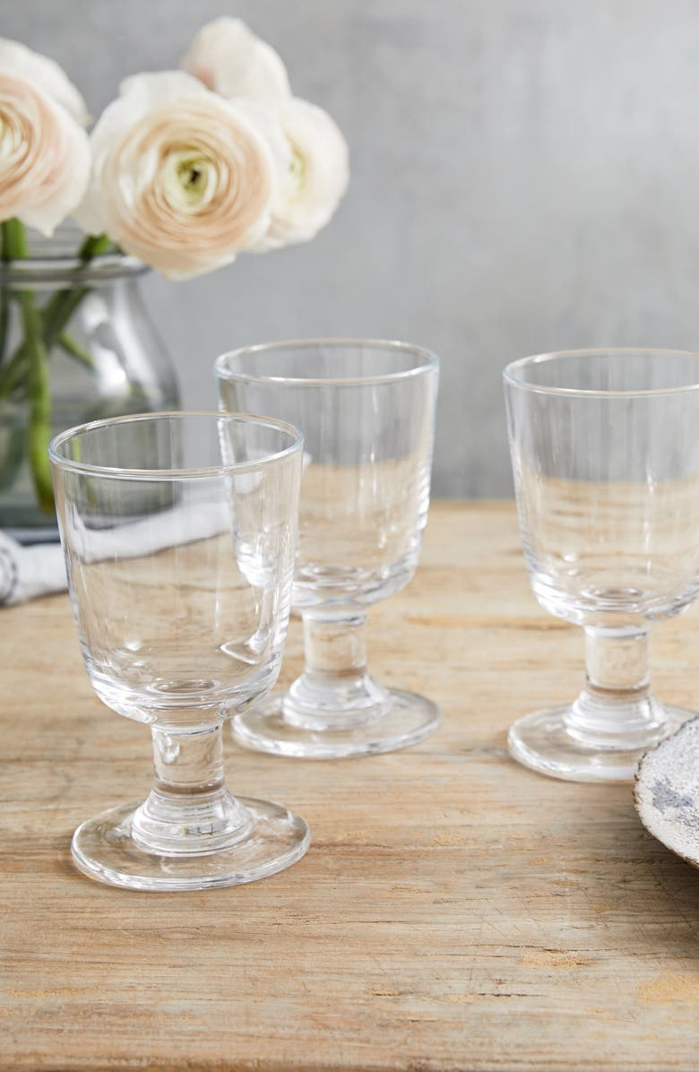 THE WHITE COMPANY Large Orford Set of 4 Wine Glasses, Main, color, CLEAR