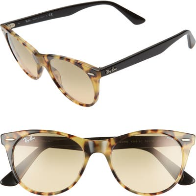 Ray-Ban 52Mm Polarized Square Sunglasses - Yellow Tort