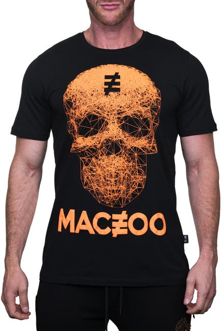 Image of Maceoo Skull Graphic Crew T-Shirt