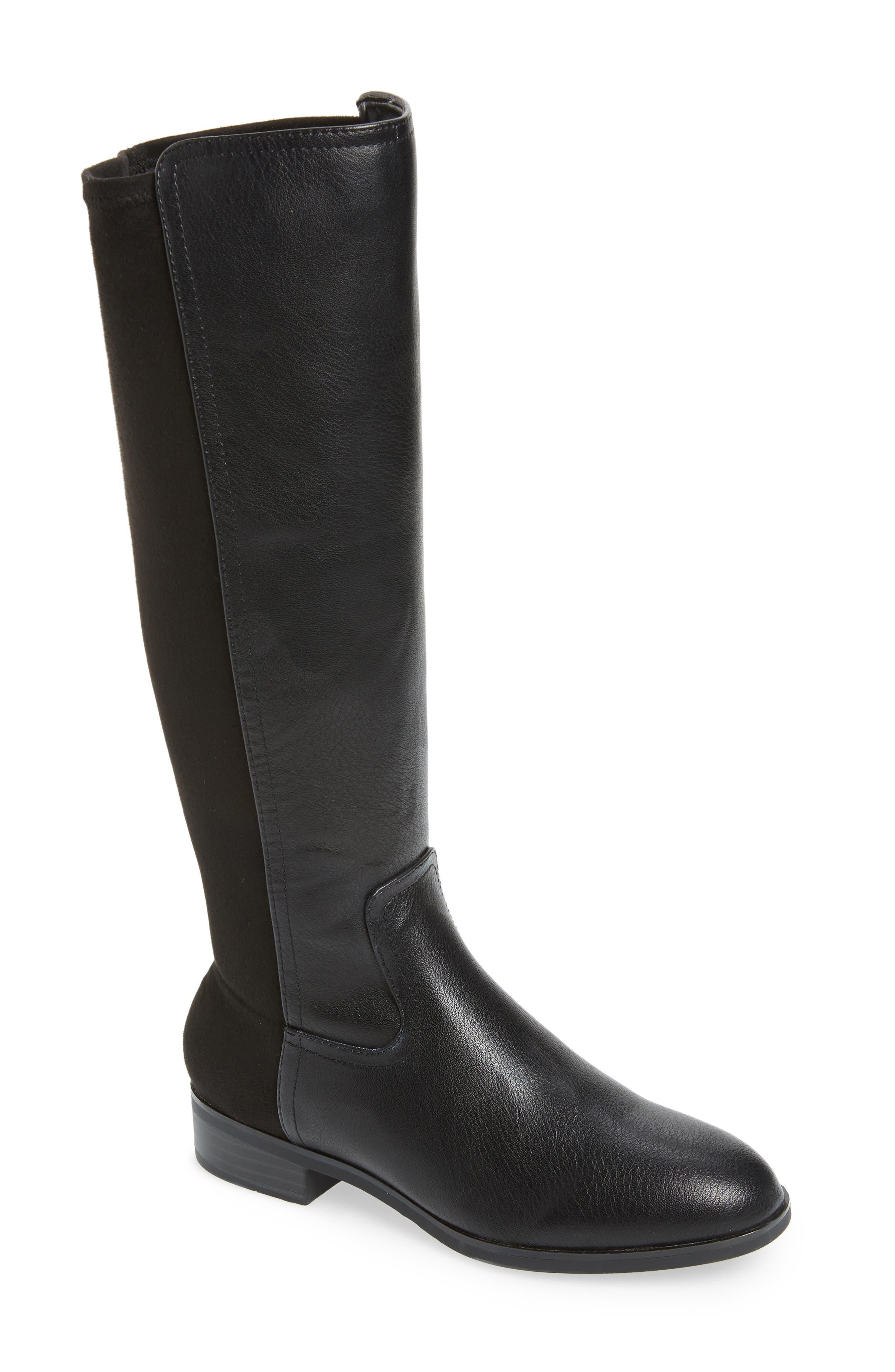 Kensie Carin Stretch Back Knee High Boot- Black
