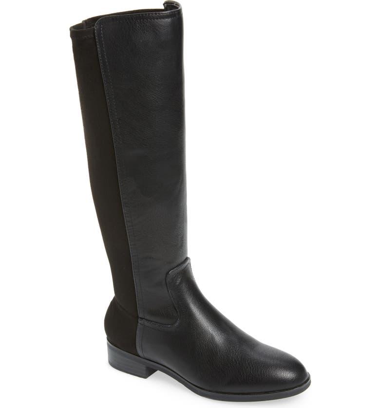 KENSIE Carin Stretch Back Knee High Boot, Main, color, 001