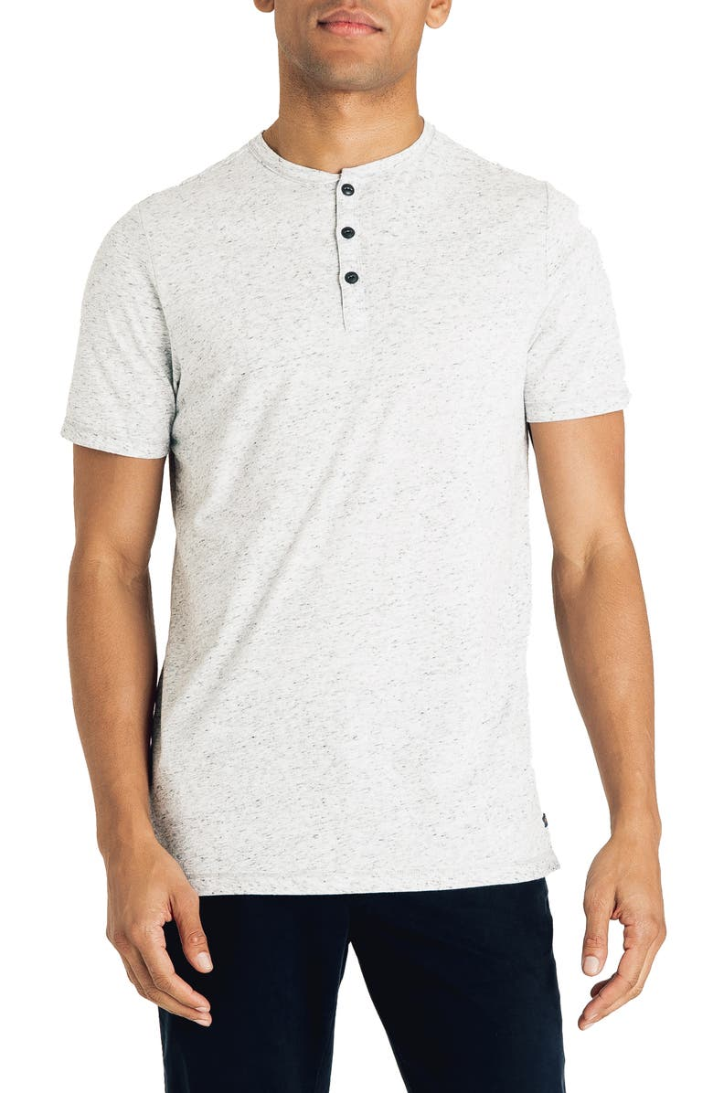 GOOD MAN BRAND Slim Fit Slubbed Henley, Main, color, SILVER HEATHER