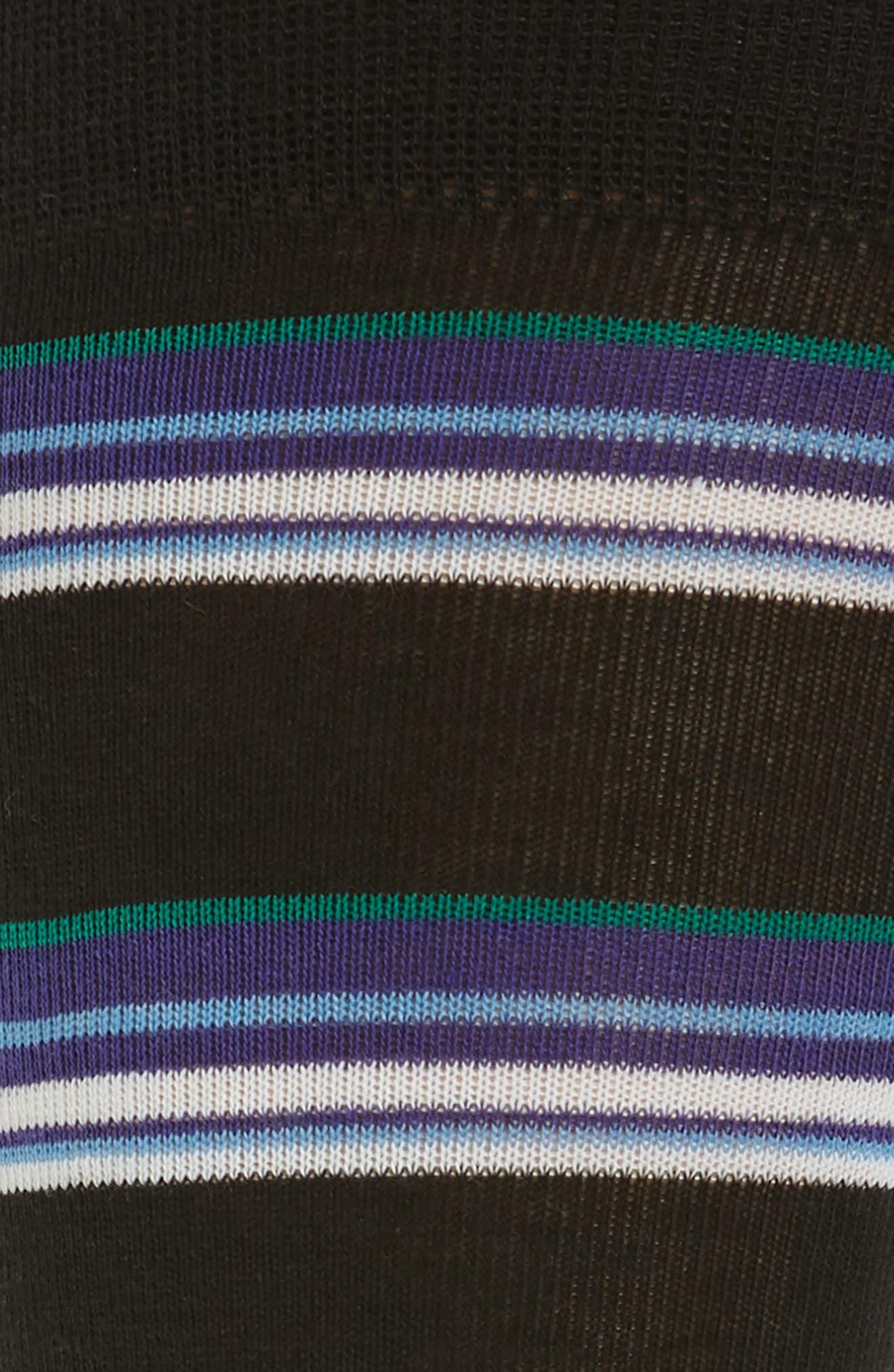 ,                             Block Stripe Crew Socks,                             Alternate thumbnail 2, color,                             BLACK