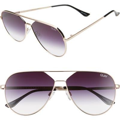 Quay Australia X Lizzo Hold Please 55mm Aviator Sunglasses - Gold/ Fade