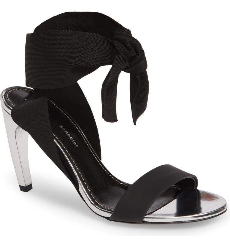 PROENZA SCHOULER Ankle Wrap Sandal, Main, color, 002