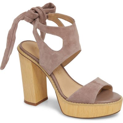 Very Volatile Ginsy Tie Back Platform Sandal, Grey