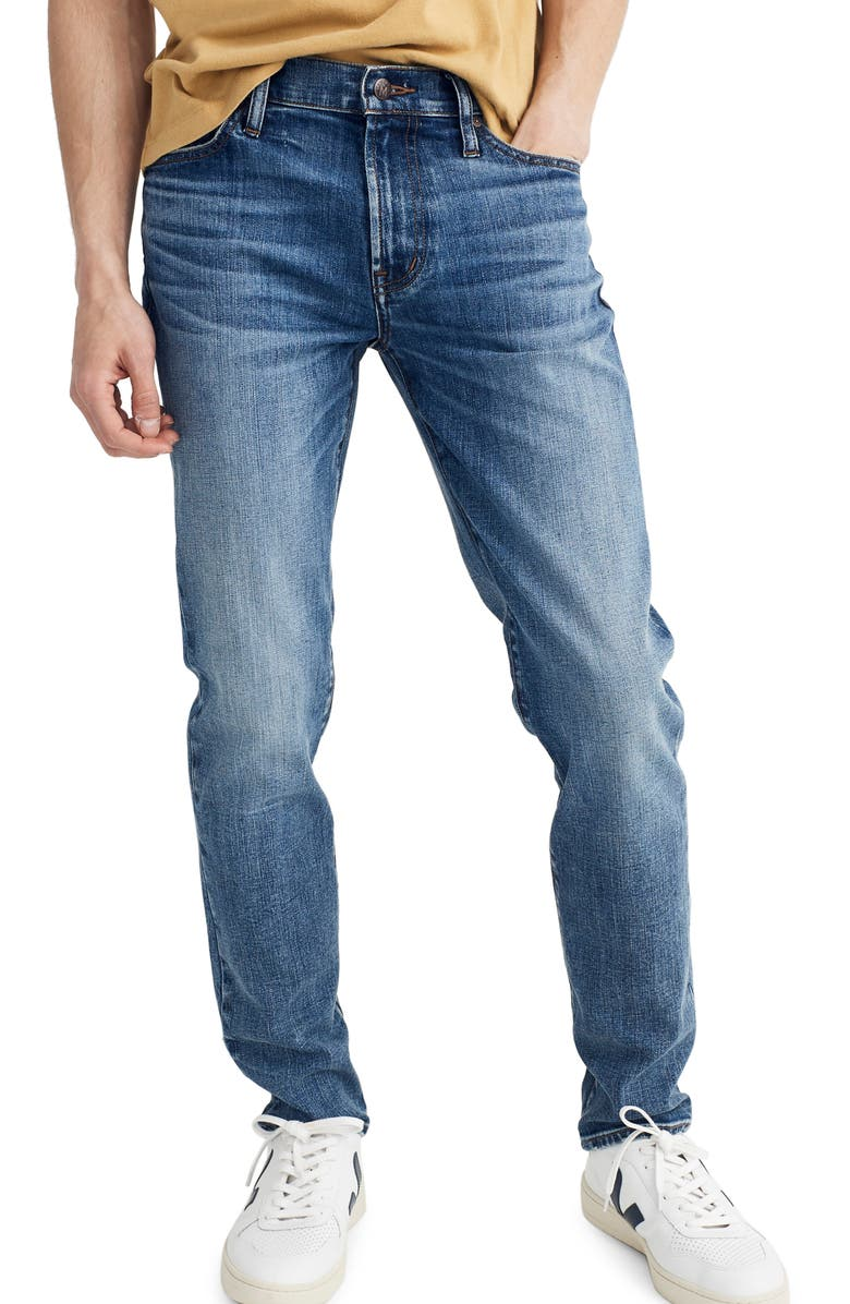 MADEWELL Slim Fit Jeans, Main, color, 400