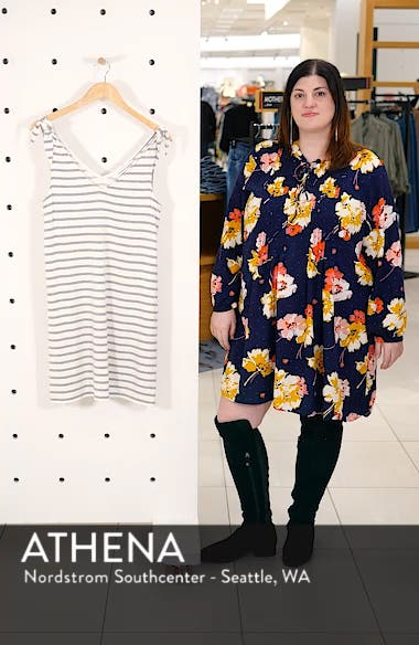 French Terry Stripe Dress, sales video thumbnail