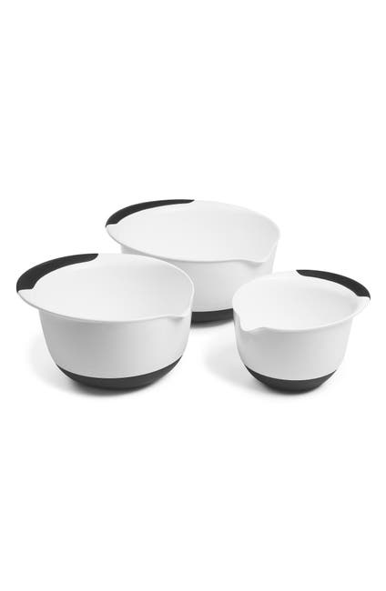Image of Oxo Black Handles 3-Piece Mixing Bowl Set