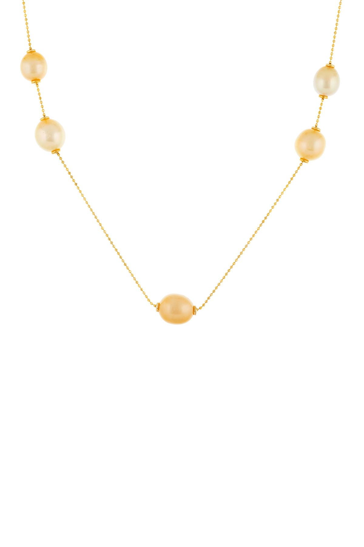 Image of Splendid Pearls Gold Plated Sterling Silver South Sea Pearl Necklace