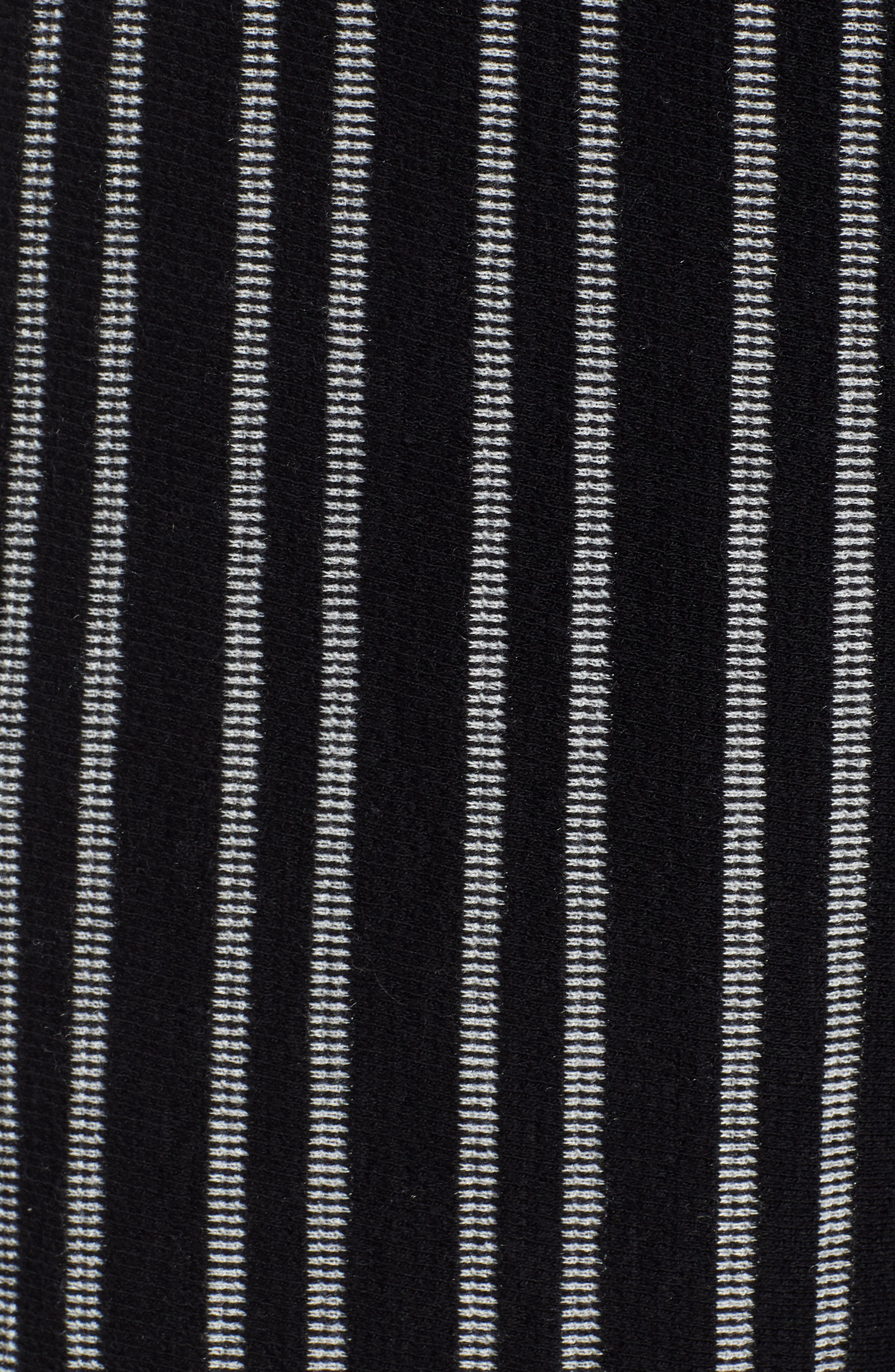 ,                             Tie Waist Stripe Wide Leg Crop Pants,                             Alternate thumbnail 6, color,                             BLACK WHITE STRIPE