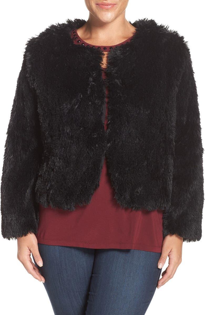 SEJOUR Faux Fur Jacket, Main, color, 001