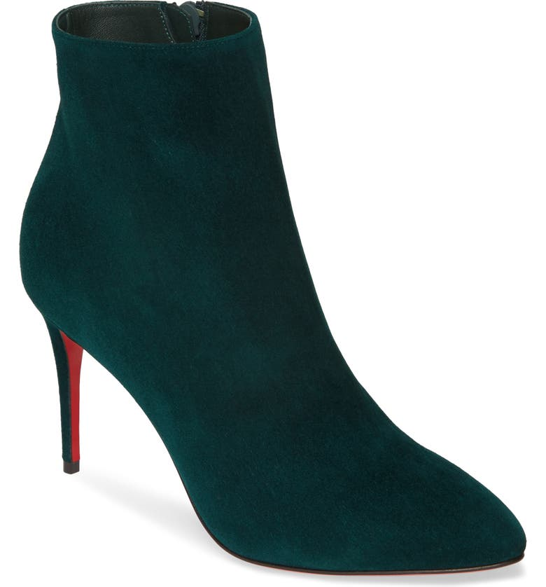 CHRISTIAN LOUBOUTIN Eloise Pointy Toe Bootie, Main, color, VOSGES GREEN