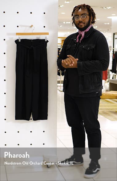 Paperbag Waist Crop Pants, sales video thumbnail