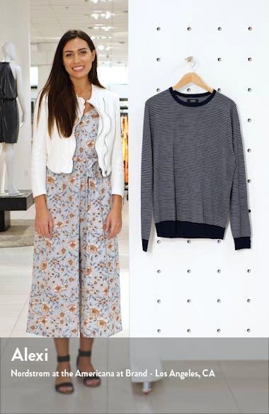 Regular Fit Stripe Merino Wool Blend Sweater, sales video thumbnail