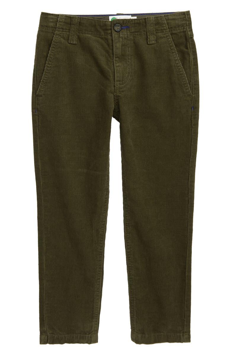 MINI BODEN Relaxed Corduroy Pants, Main, color, KHAKI GREEN