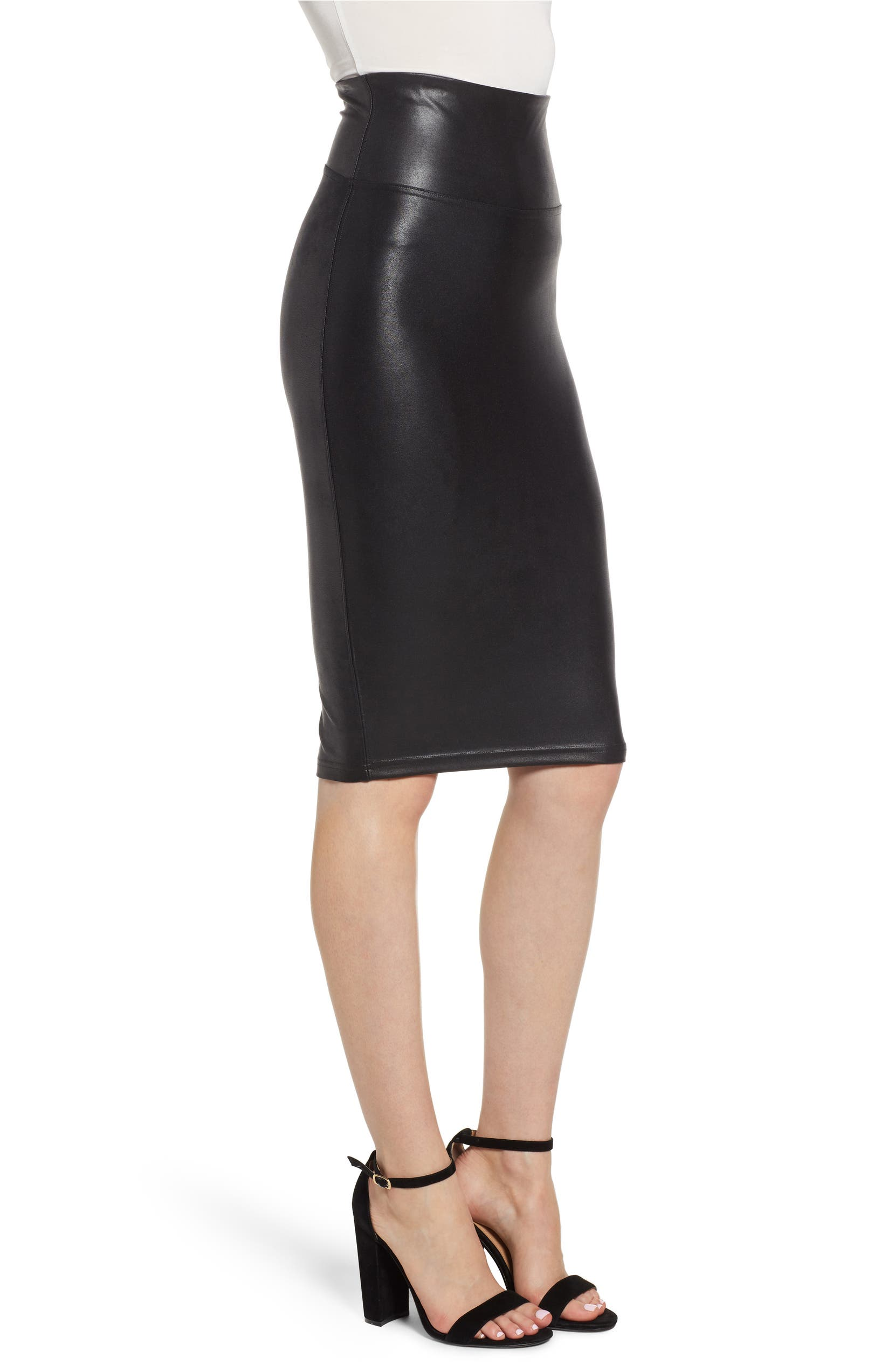 ddf37cedd8 SPANX® Faux Leather Pencil Skirt | Nordstrom