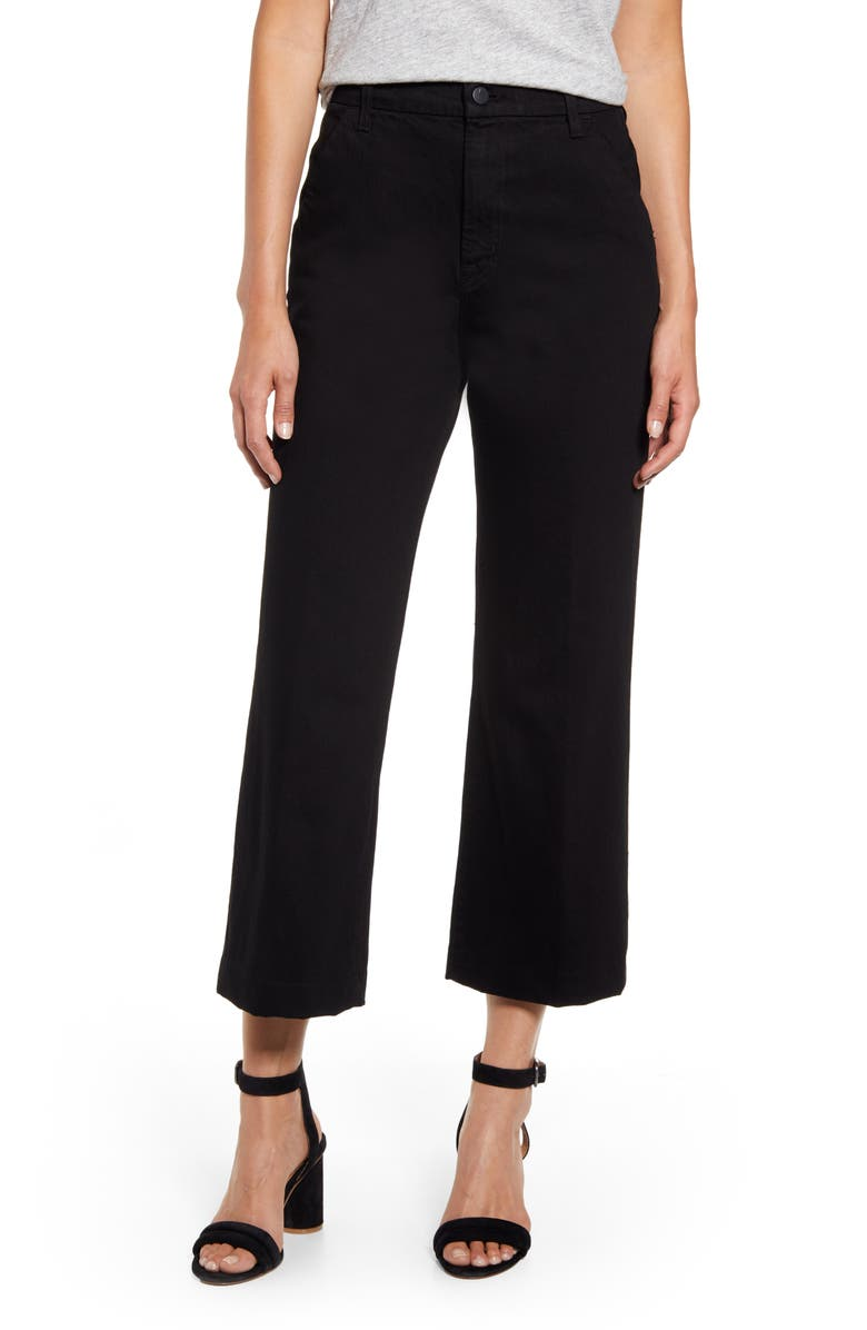 J BRAND Joan High Waist Crop Wide Leg Trouser Jeans, Main, color, 002