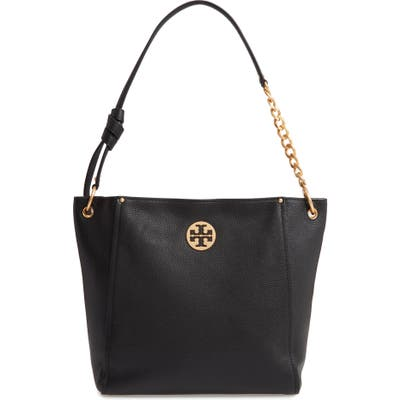 Tory Burch Everly Leather Hobo - Black