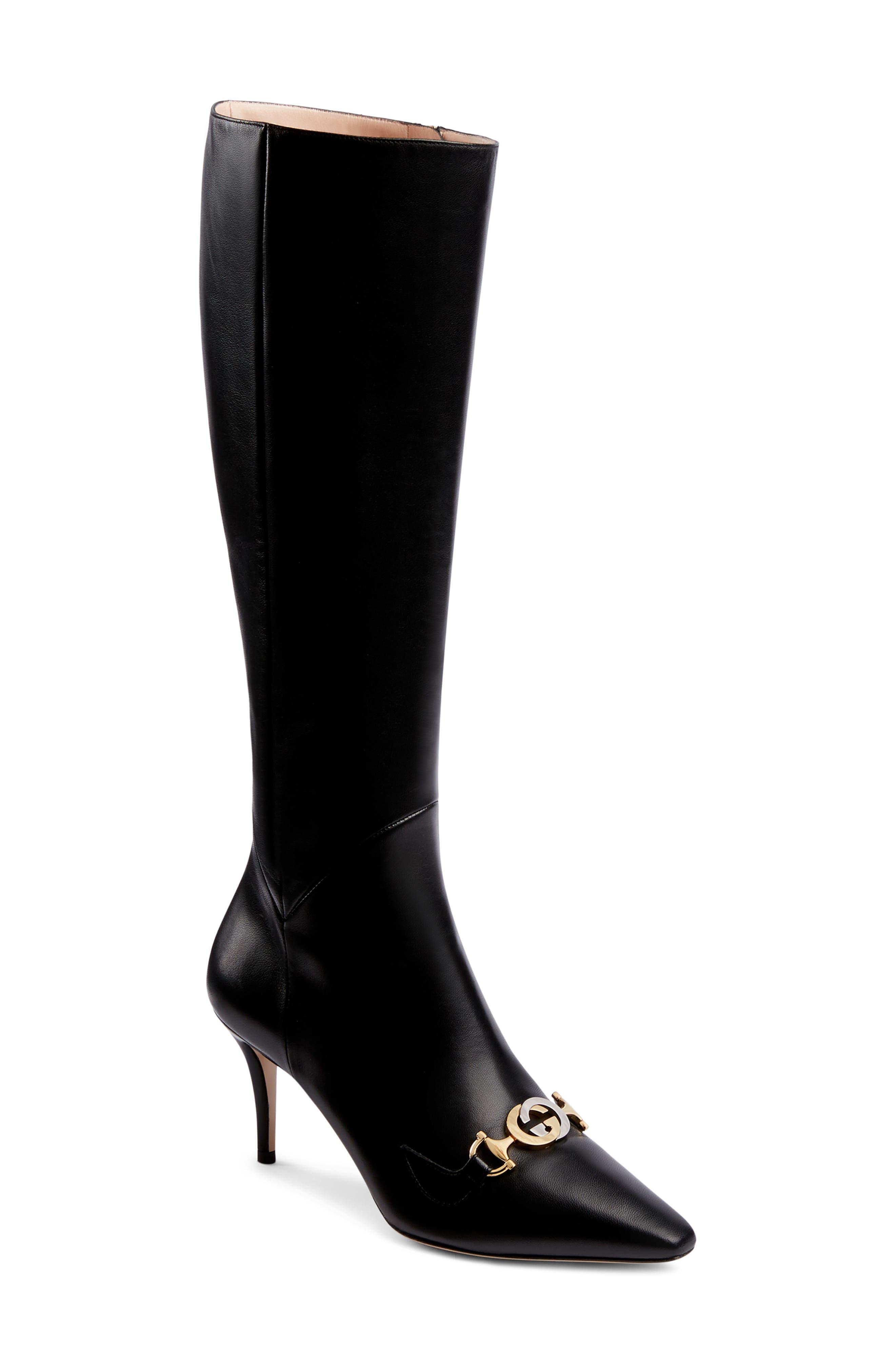 Gucci Zumi Knee High Boot, Black