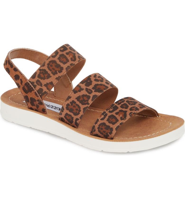 STEVE MADDEN Pascale Sandal, Main, color, LEOPARD