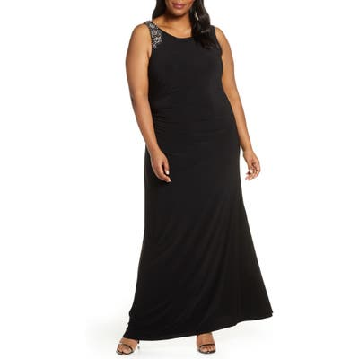 Plus Size Vince Camuto Embellished Gown, Black