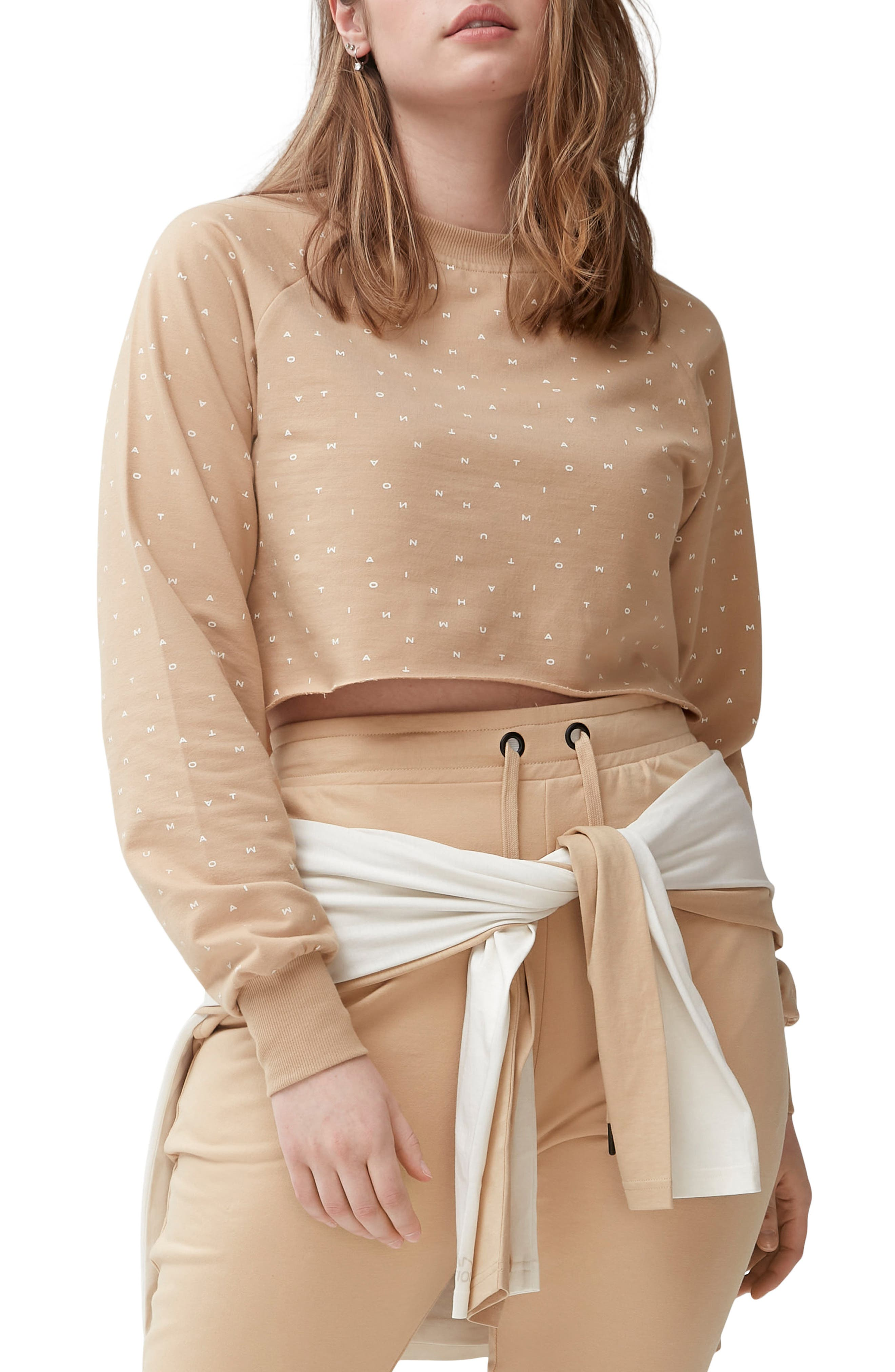 Gender Inclusive Kind Organic Cotton Blend Crop Sweatshirt