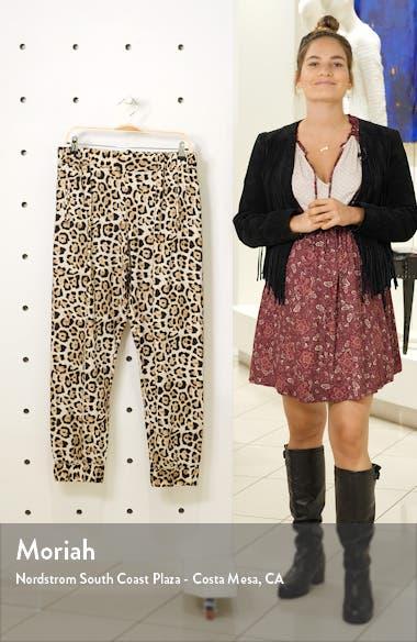 Leopard Print Silk Pants, sales video thumbnail