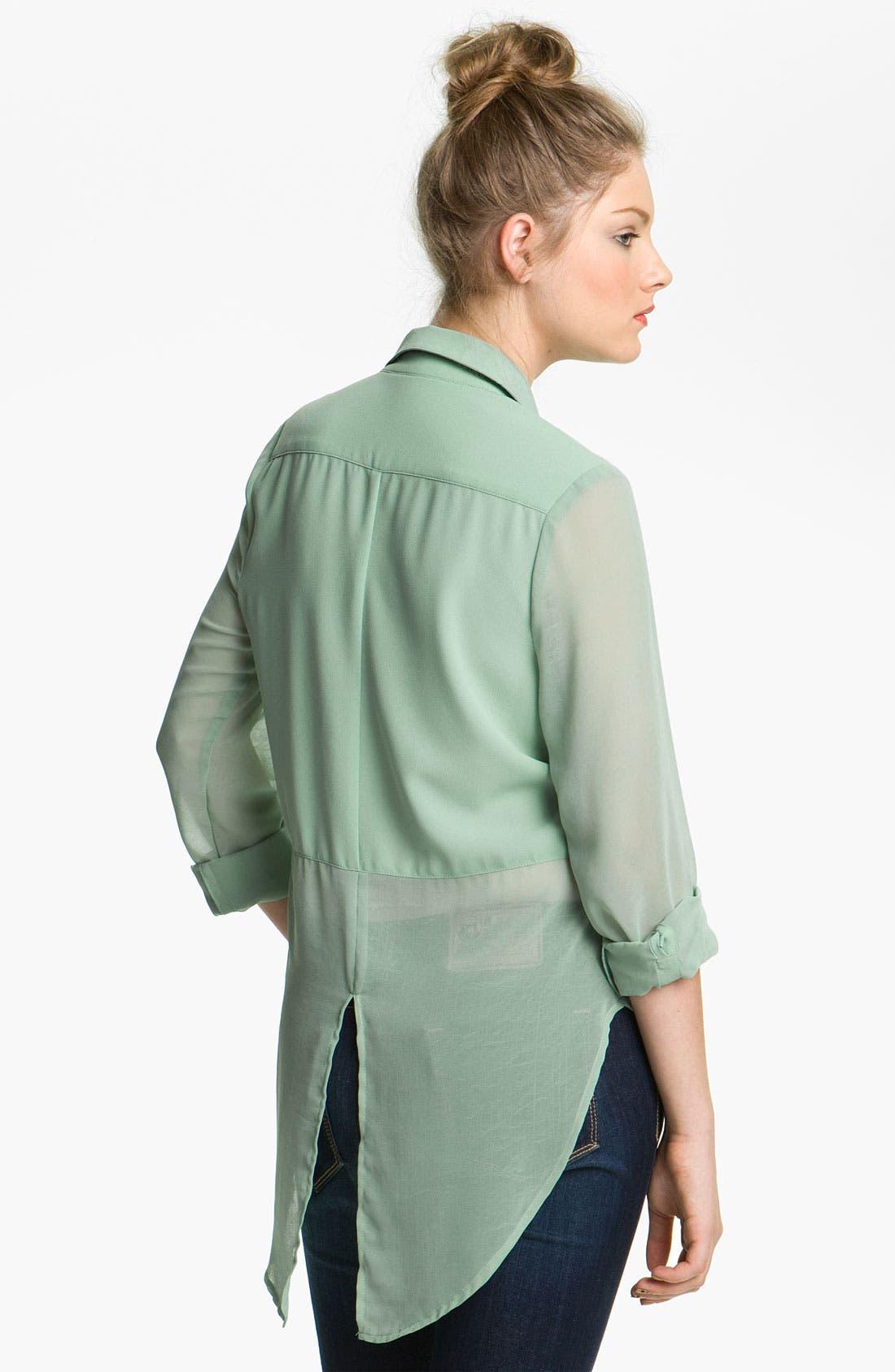 ,                             Lush Sheer Panel High/Low Shirt,                             Alternate thumbnail 11, color,                             445